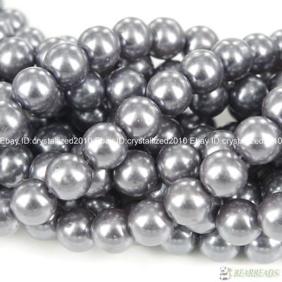 100pcs Top Quality Czech Glass Pearl Round Beads 3mm 4mm 6mm 8mm 10mm 12mm 14mm 7