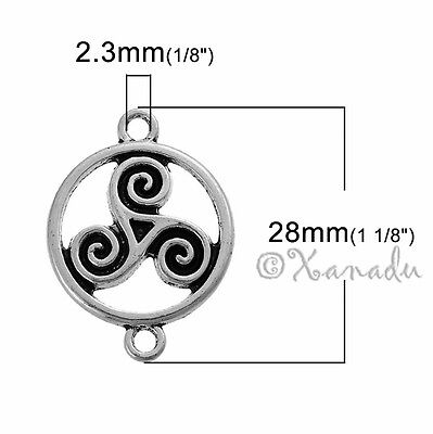 20 Or 50PCs Celtic Cross 22mm Antiqued Silver Plated Charms C2630-10