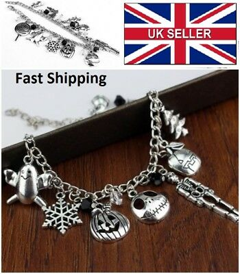 Nightmare Before Christmas Jack Skellington Sally Bracelet  UK SELLER #A15
