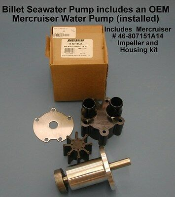 SEA WATER PUMP AND PULLEY REPLACES MERCRUISER 46-807151A12 46-72774A32