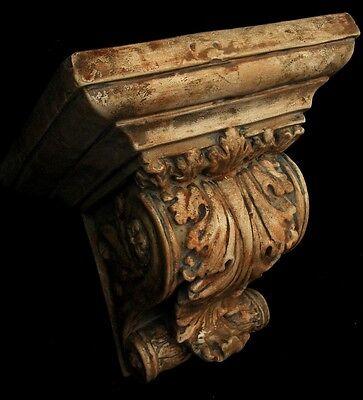 Huge Acanthus Leaf Greek Roman Sconce Art Bracket 3