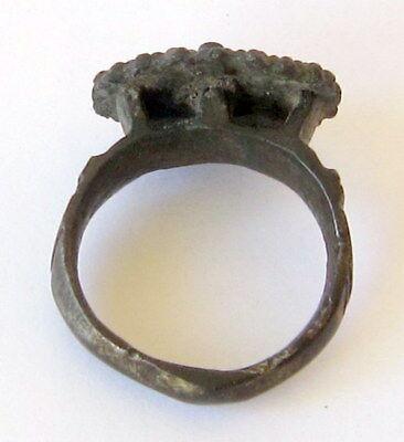 MAGNIFICENT, ANTIQUE HUGE BRONZE RING,NICE PATINA, CIRCA 1800's  # 855