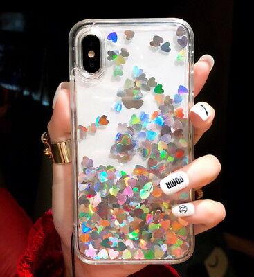 bfbf4a069 ... Cute Glitter Moving Quicksand Liquid Soft Case For iPhone XS Max X 6 7  8 Plus