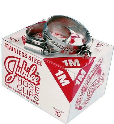 Genuine Jubilee Hose Clips / Clamps (Worm Drive) - Stainless Steel / Mild Steel 2
