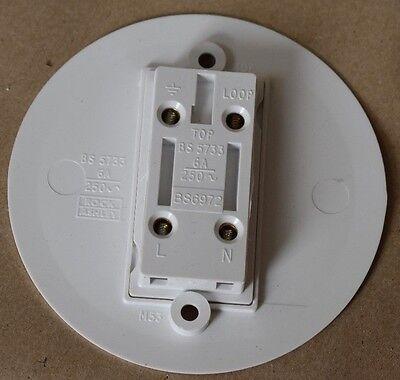 Hager Klik S28 6A 3 Pin Socket Round Socket Outlet Ultra Flush White