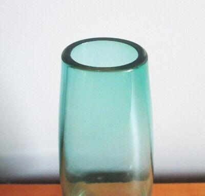 "Caithness Kingfisher Teal Vase 7 1/4"" Teardrop Shape Scotland Art Glass Vintage 3"