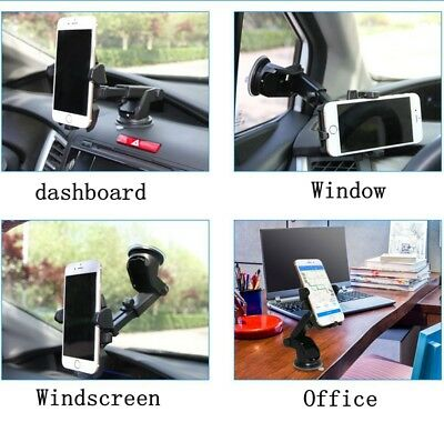360 Rotatable Car Windscreen Suction Cup Mount Mobile Phone Holder Bracket Stand 6