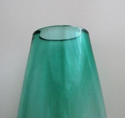 "Caithness Kingfisher Teal Vase 7 1/4"" Teardrop Shape Scotland Art Glass Vintage 4"