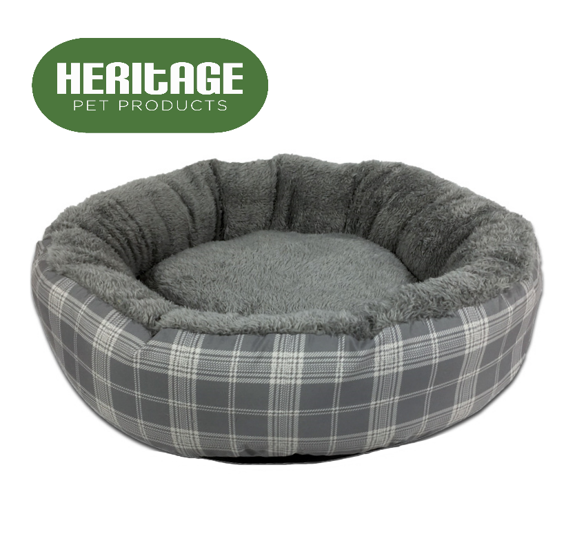 Heritage Deluxe Soft Washable Dog Pet Bed Warm Basket Cushion with Fleece Lining 3