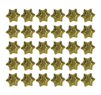 400 Milk Chocolate Stars Silver Gold Red Green - Christmas Favours Kids Parties 2