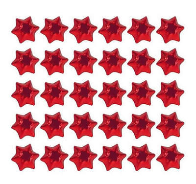 400 Milk Chocolate Stars Silver Gold Red Green - Christmas Favours Kids Parties 3