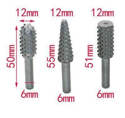 5pcs Diamond Burr Electric Rotary Tool Bit Set Engraving Wood Carving File 3
