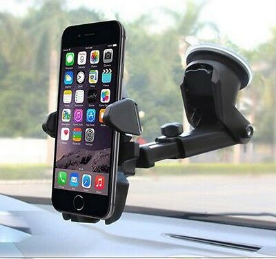 360 Rotatable Car Windscreen Suction Cup Mount Mobile Phone Holder Bracket Stand 2