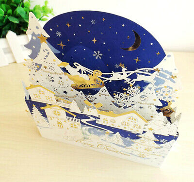 Special Unique 3D Up Fold Out Keepsake Christmas Cards Stunning Design FA