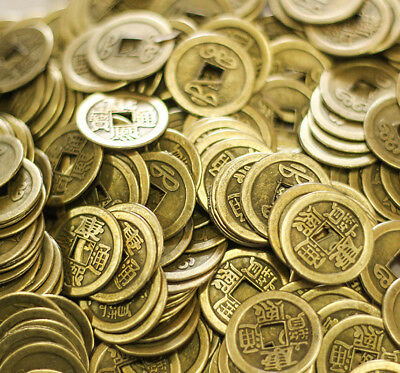 10x Feng Shui Chinese Dragon Phoenix Coins Lucky Ching Fortune Coin I Qing Money