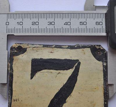 1900s Imperial Russia Apartment Flat Door Number Sign #7 RARE TIN TYPE 5