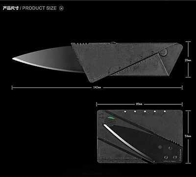 Cardsharp Credit Card Folding Razor Sharp Wallet Knife Survival Tool Thin Black 4