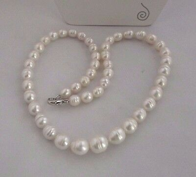 """FUN NEW HONORA-8MM  BARREL RINGED PEARL NECKLACE 18 /""""  PEACOCK MULTI COLORED"""