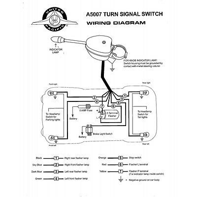 UNIVERSAL TURN SIGNAL SWITCH COLUMN MOUNT 12 VOLT _1 m939 wiring diagram wiring diagrams GM Turn Signal Switch Diagram at edmiracle.co