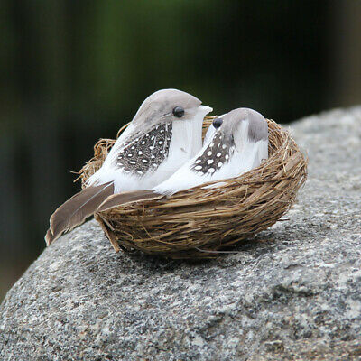 Artificial Bird Nest Handmade Bird Egg Suit Garden Decoration Background Props