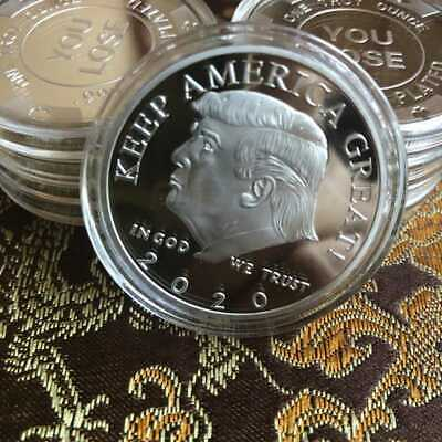 Trump 2020 Silver Plated Commemorative Coin Keep America Great Gift collection 5