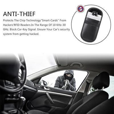 Car Keyless Key Entry Fob Anti-Theft Signal Guard Blocker Case Pouch Faraday Bag 9