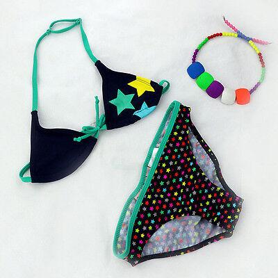 Striped Kids Girls Swimsuit Bikini Set Swimwear Beachwear Bathing Suit 8-16YCute
