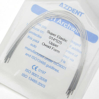 10 Packs Dental Orthodontic Rectangular Super Elastic Niti Arch Wires AZDENT 4