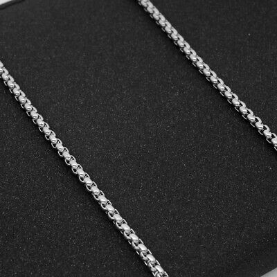 Wholesale Stainless Steel Square Rolo Box Cylinder Chain Necklace Mens & Womens 4