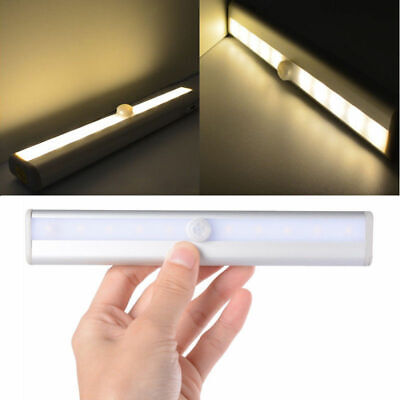 10 LED PIR Motion Sensor LED Night Light Battery Operated with Magnetic Strip 2