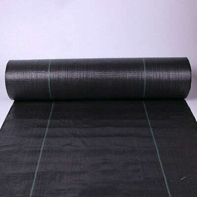 1m 2m 4m Wide 100gsm Heavy Duty Weed Control Fabric Membrane Mulch Garden Cover 10