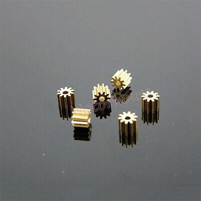 Motor Main Shaft 10T Metal Steel Brass Copper Gear 10 Teeth 0.5 Module Model Toy