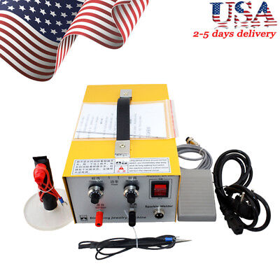 Pulse Sparkle Spot Welder Electric Jewelry Welding Machine Gold Silver USA Good 5