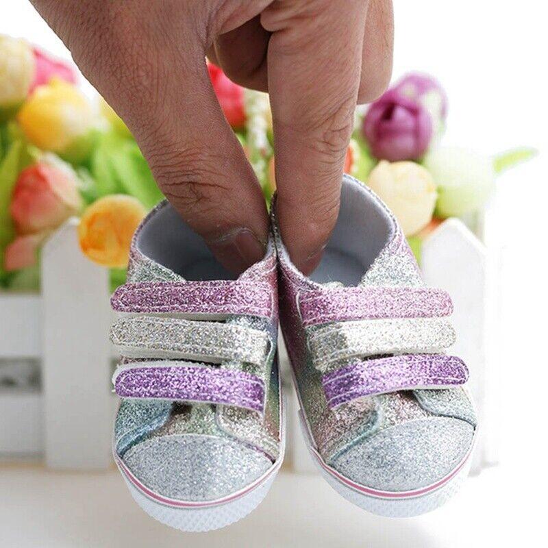 Puppenkleidung für 18 Zoll Puppen Mädchen Segeltuch Schuh Turnschuh NEU JwTPi