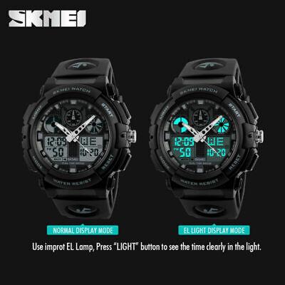 Men's Date Quartz Military Shock Digital Tactical Sport Fashion Wrist Watch US 5