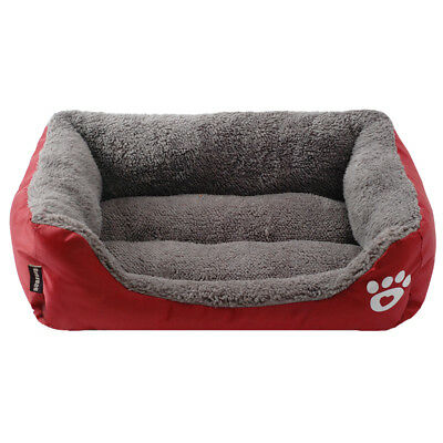 Large Pet Dog Cat Bed Puppy Cushion Mats House Waterproof Kennel Warm Blanket UK 5