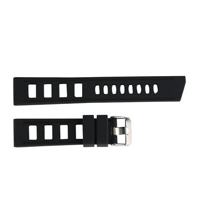 20/22mm Silicone Rubber Watch Band Strap Replacement Bracelet Spring Bars 3