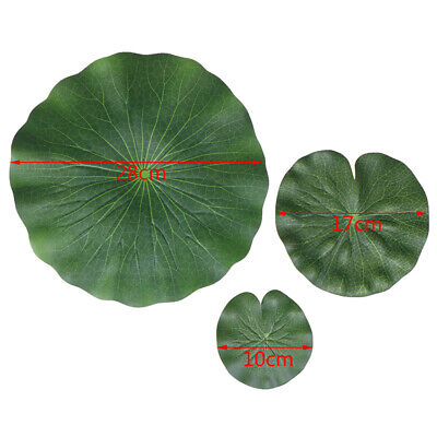 Pack Of 9 Artificial Floating Foam Lot Leaves Water Lily Pads Ornaments 3Q