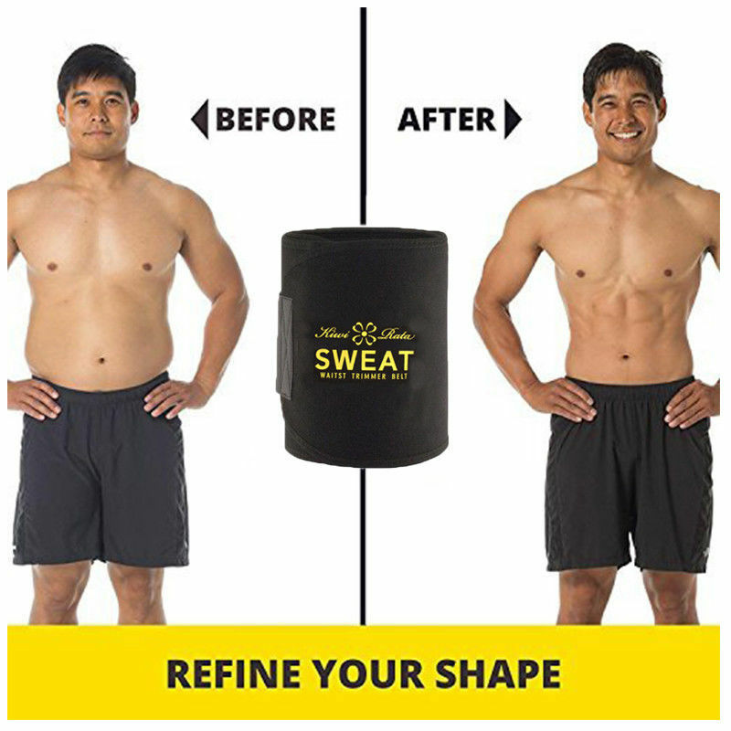 Suana Sweat Waist Trimmer Belt Wrap Stomach Slimming Fat Burn Weight Loss Body 10