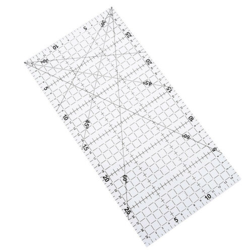 1Pc patchwork ruler quilting tools acrylic material transparent ruler scale  GN 3