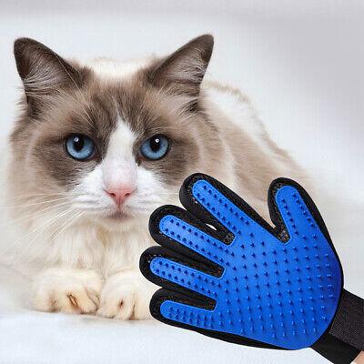 Pet Hair Remover Glove Brush Dog Cat Grooming Massage Soft Bath Shedding Glove 4