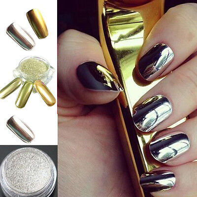 1 of 10FREE Shipping Nail Glitter Mirror Powder Chrome Dust Nail Art Pigment Manicure Decoration DIY