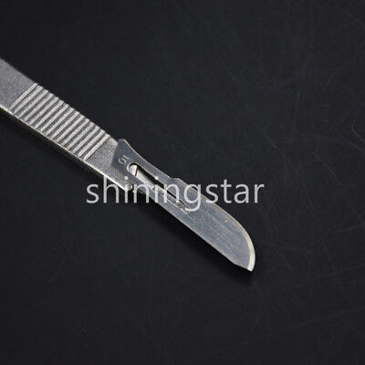 Dental Sterile Carbon Steel Surgical Scalpel Blade +Stainless Steel Handle New 8