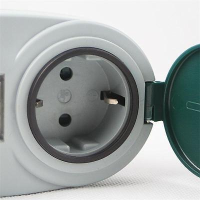 digitale Wochen Zeitschaltuhr, Aussen IP44 max 2000W 230V Schaltuhr Zeitschalter 4