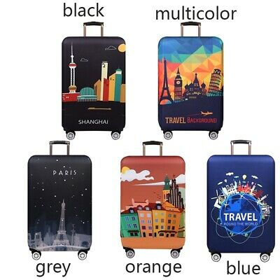 "18-32"" Elastic Travel Protective Luggage Cover Suitcase Dustproof Protector Case 3"