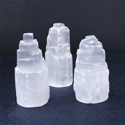 Large SELENITE TOWER Rough  Crystal Morocco Natural Carved Healing Energy 3