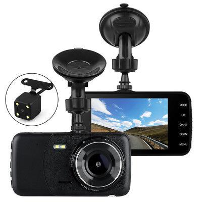 "4""1080P Dual Lens Car Dash Cam Front and Rear Camera DVR Recorder Video 170° 10"