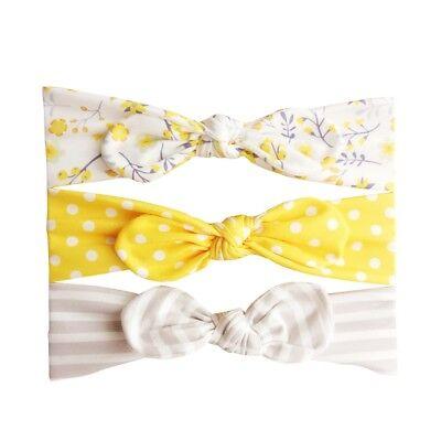 3pcs/Set Baby Girl Headband Ribbon Elastic Headdress Kids Hair Band Newborn Bow 10