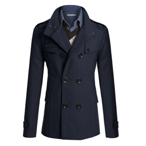 herren wintermantel mantel winterjacke stehkragen slim fit sakko trenchcoat mode eur 5 29. Black Bedroom Furniture Sets. Home Design Ideas