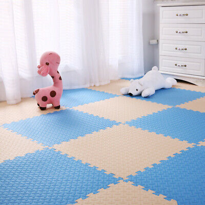 4 Tiles Home Yoga Gym Fitness Interlock EVA Foam Floor Mat Puzzle Baby Kids Play 3